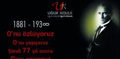 10 Kasım Atatürk'ü Anma Töreni