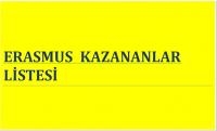 ERASMUSA KATILMAYA HAK KAZANLAR BELLİ OLDU